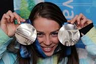 Tina Maze – Alpine skiing – two silver medals - Vancouver 2010. Photo: Aleš Fevžer