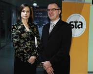Barbara Štrukelj, STA Editor in Chief and Bojan Veselinovič, General Manager. Photo: STA