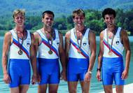 Coxless four - rowing – bronze medal - Barcelona 1992. Photo: Aleš Fevžer